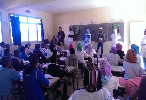 الثانوية التأهيلية أولاد يحيى لكراير تحتفل بالأسبوع الوطني للسلامة الطرقية-1