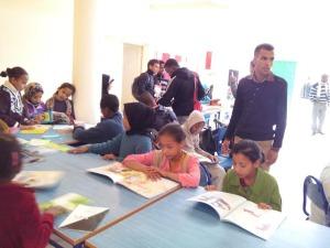 الاتحاد الجمعوي للتنمية و التضامن أولاد يحي ينظم قافلة القراءة-2