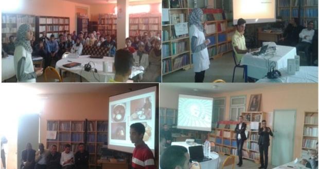 التلميذ والتلميذة يبدعان باللغة الانجليزية بثانوية سيدي صالح تاكونيت