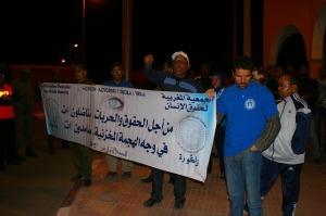 الجمعية المغربية لحقوق الإنسان بزاكورة تنظم وقفة احتجاجية إمام عمالة زاكورة-2