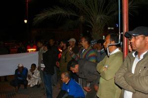 الجمعية المغربية لحقوق الإنسان بزاكورة تنظم وقفة احتجاجية إمام عمالة زاكورة-5