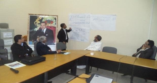 العاملون بمقر النيابة الإقليمية في اللقاء الإقليمي الأول حول التدابير ذات الأولوية بزاكورة