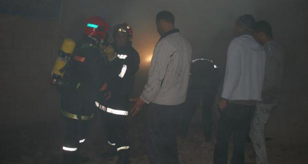 حريق منزل بحي تنسيطة انشاشدة بزاكورة-1