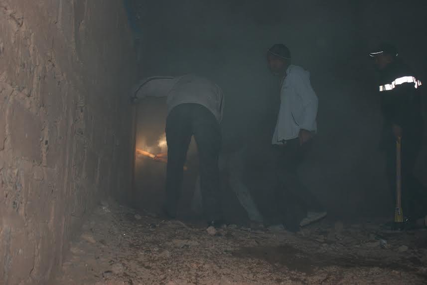 حريق منزل بحي تنسيطة انشاشدة بزاكورة