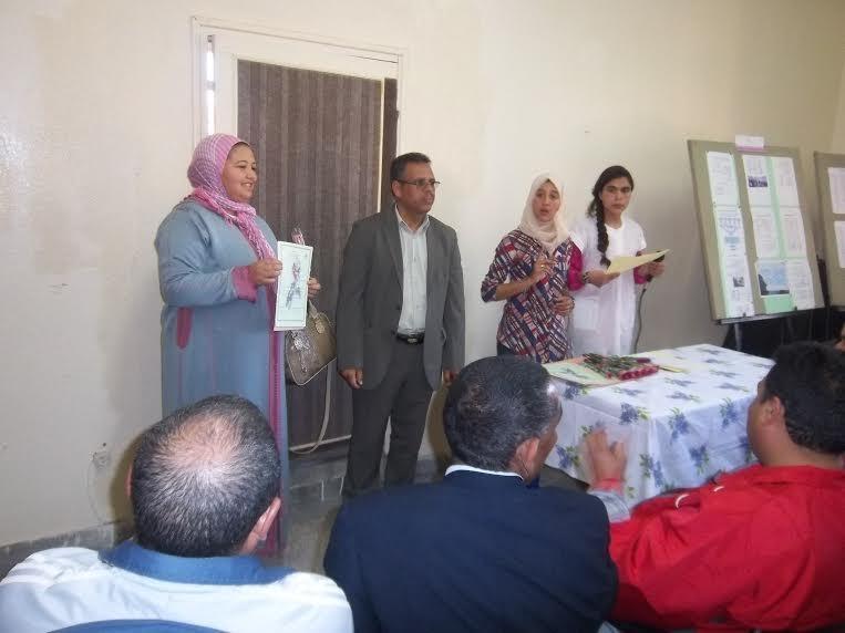 حفل بمناسبة اليوم العالمي للمرأة بثانوية عبد الرحيم بوعبيد الإعدادية بورزازات-1