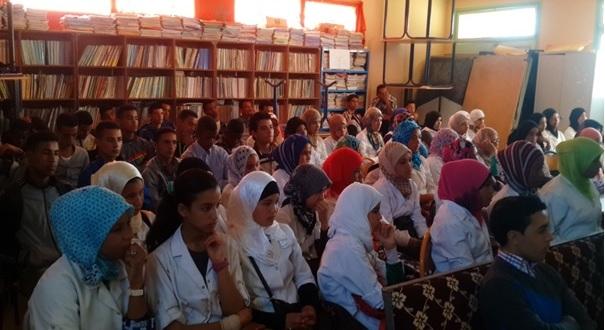 نادي الفتاة بثانوية سيدي صالح التأهيلية بتاكونيت احتفاء بالمرأة في عيدها الأممي -1