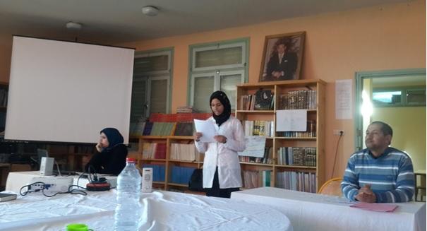 نادي الفتاة بثانوية سيدي صالح التأهيلية بتاكونيت احتفاء بالمرأة في عيدها الأممي -3