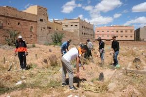 123متطوع يشاركون في تنظيف مقابر زاوية البركة-2