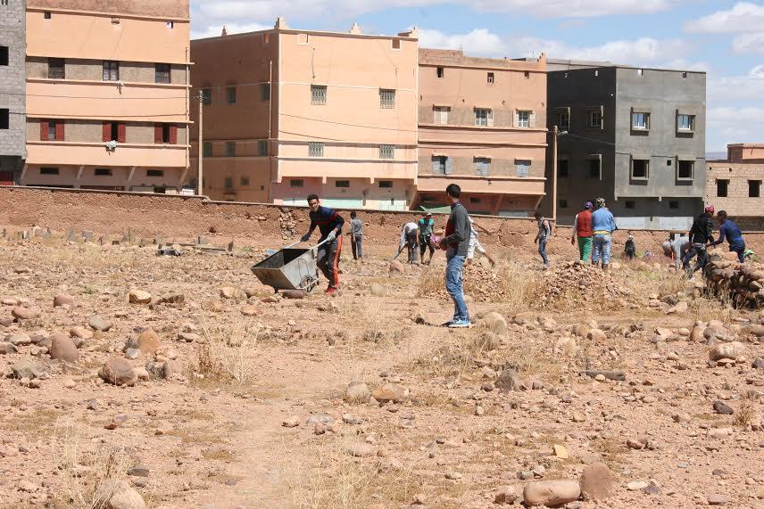 123متطوع يشاركون في تنظيف مقابر زاوية البركة- 6