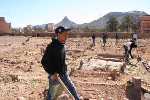 123متطوع يشاركون في تنظيف مقابر زاوية البركة- 8