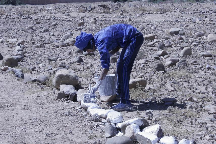 123متطوع يشاركون في تنظيف مقابر زاوية البركة