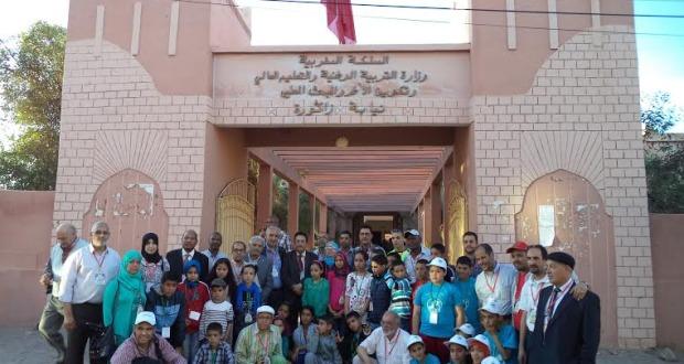 المهرجان الجهوي العاشر للمسرح المدرسي للتعاونيات المدرسية بزاكورة