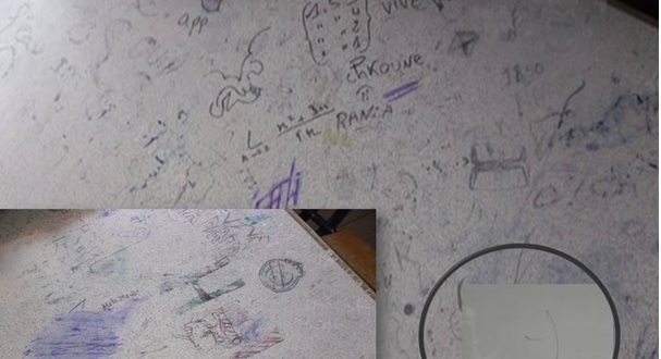 ظاهرة الرسم و الكتابة على الجدان في المدرسة المغربية