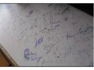 ظاهرة الرسم و الكتابة على الجدان في المدرسة المغربية 1