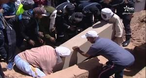 مراسيم تشييع جنازة ضحايا فاجعة طانطان