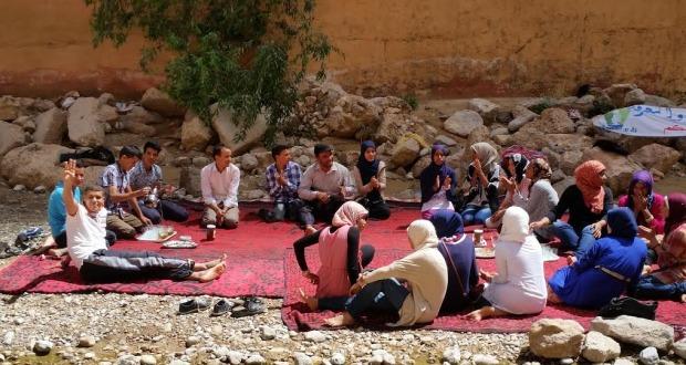 ثانوية سيدي عمرو بتازرين تنظم رحلة استكشافية تربوبة إلى مضايق تودغى بمدينة تنغير-2