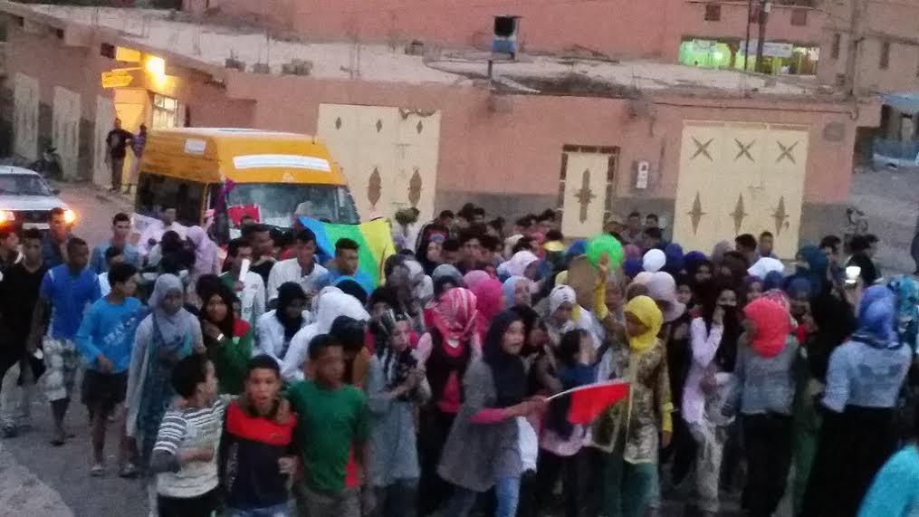 فريق دار الطالبة تازارين يحظى باستقبال جماهيري عند عودته باللقب الوطني من أكادير1