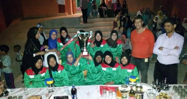 فريق دار الطالبة تازارين يحظى باستقبال جماهيري عند عودته باللقب الوطني من أكادير3