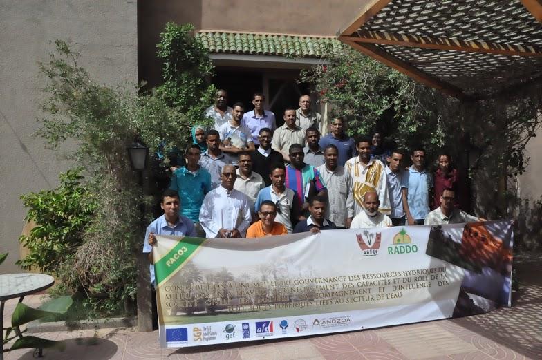 فعاليات المجتمع المدني والمؤسسات تعمل معا على بحث مسألة الموارد المائية بالوسط الواحي