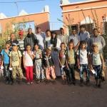 تلامذة وأطر مركزية امحاميد الغزلان في حملة تضامنية مع التلميذ يونس الناجي