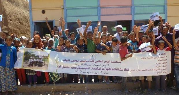 القافلة البيئية لجمعية أصدقاء البيئة بالمؤسسات التعليمية بالعالم القروي باقليم زاكورة