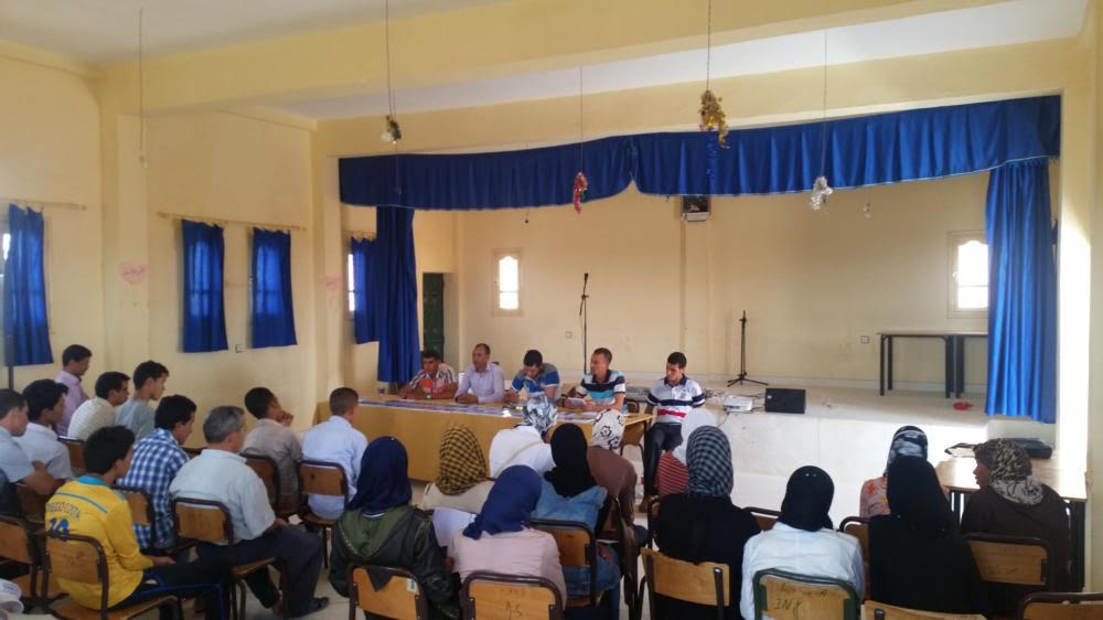 حفل توقيع أول إصدار لكتاب أقلام الفكر و المعرفة بدار الشباب تازارين