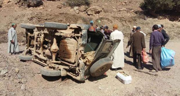 انقلاب سيارة بجماعة تالكمت بتارودانت دون ضحايا