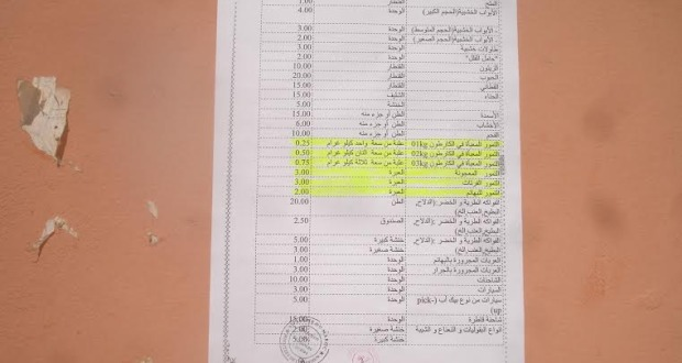 المجلس البلدي  الجديد يصحح خروقات القانون الجبائي التي تثقل  كاهل الفلاح بالسوق النصف الأسبوعي بمدينة زاكورة