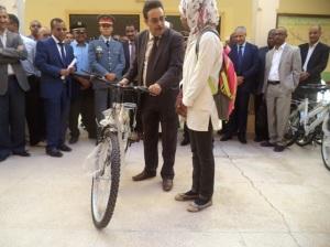توزيع 433 دراجة هوائة لفائدة التلاميذ بنيابة زاكورة -2