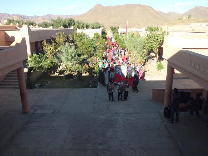 ثانوية أفلاندرا الاعدادية تحتفي بذكرى المسيرة الخضراء وعيد الاستقلال-1