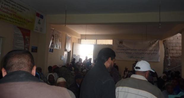 لقاء تواصلي بخصوص صندوق التماسك الاجتماعي بمقر جمعية الأشخاص المعاقين  بزاكورة-1