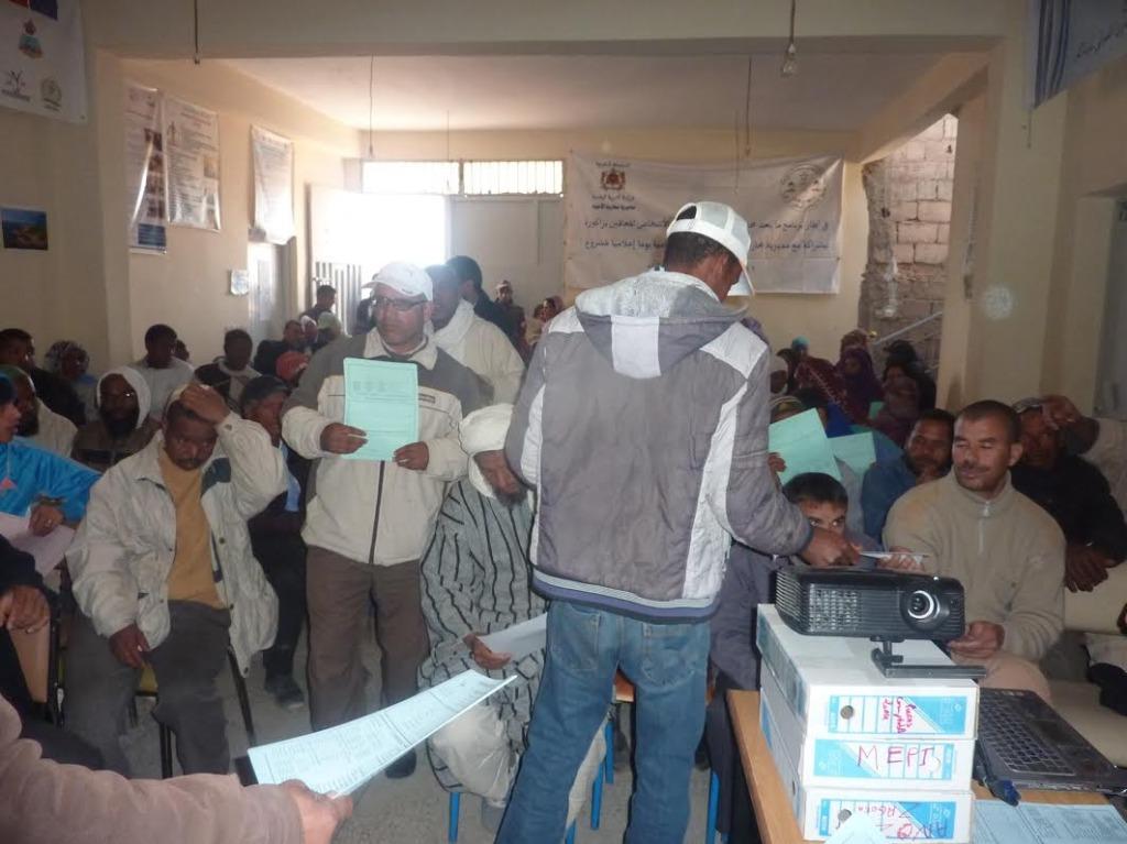 لقاء تواصلي بخصوص صندوق التماسك الاجتماعي بمقر جمعية الأشخاص المعاقين  بزاكورة-2