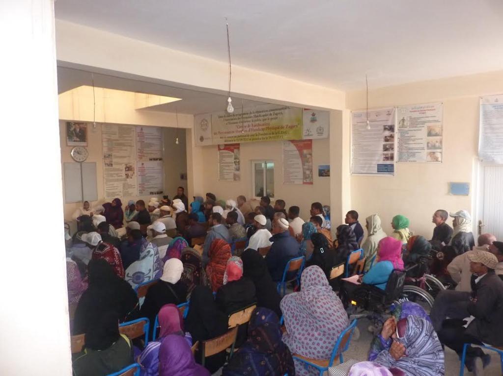 لقاء تواصلي بخصوص صندوق التماسك الاجتماعي بمقر جمعية الأشخاص المعاقين  بزاكورة-5