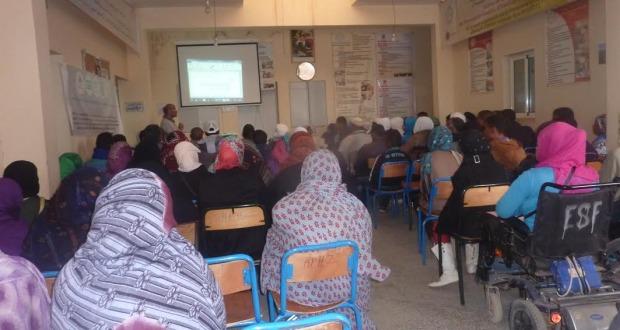 لقاء تواصلي بخصوص صندوق التماسك الاجتماعي بمقر جمعية الأشخاص المعاقين  بزاكورة-8