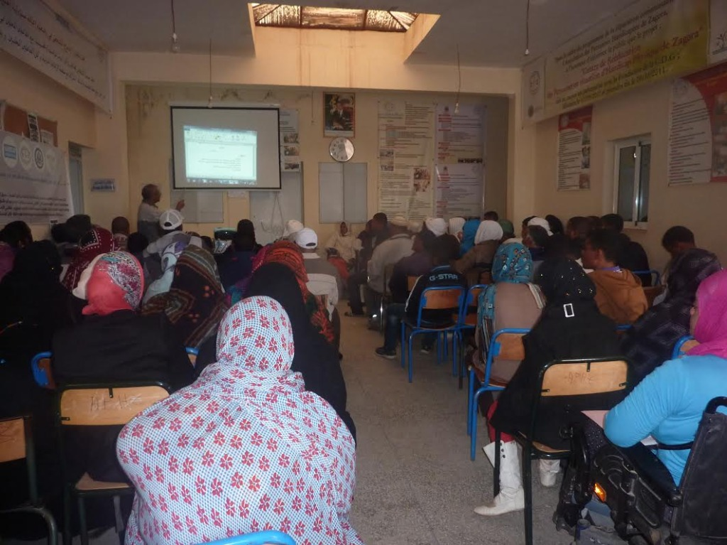 لقاء تواصلي بخصوص صندوق التماسك الاجتماعي بمقر جمعية الأشخاص المعاقين  بزاكورة-9