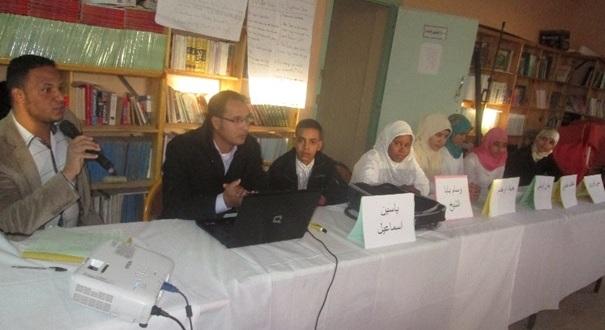 نشاط نادي الخزانة وأصدقاء الكتاب والدعم التربوي احتفاء بأسبوع المكتبة المدرسية وباليوم العالمي للغة العربية -2