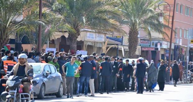 زاكورة: نجاح متفاوت وحضور أمني في الإضراب العام