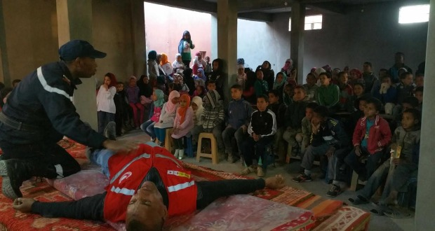تازارين: جمعية تيغرمت للتنمية تحتفل باليوم الوطني للسلامة الطرقية