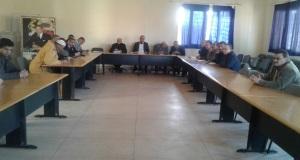 المدير الإقليمي لوزارة التربية الوطنية بزاكورة في أولى لقاءاته  مع العاملين بمقر المديرية