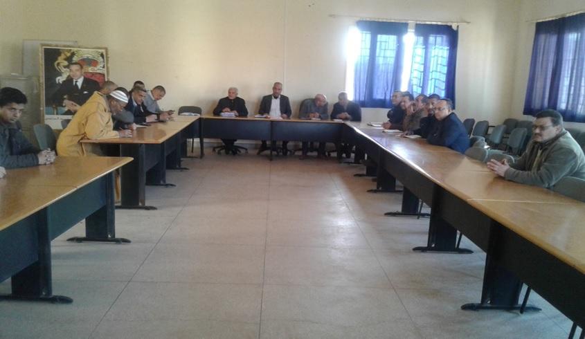 السيد المدير الإقليمي لوزارة التربية الوطنية بزاكورة في أولى لقاءاته -1