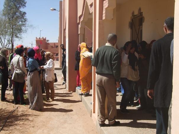 حملة لإنجاز بطاقة التعريف الوطنية بثانوية المحاميد الجديدة التأهيلية لفائدة تلميذات و تلاميذ المؤسسة