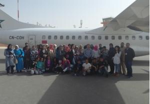 رحلة مدرسية الى مطار زاكورة0