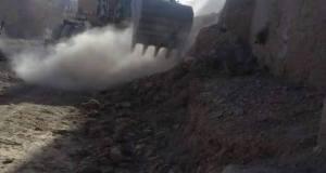 ساكنة دواوير بجماعة بوزروال يحتجون على هدم منازلهم دون تعويض