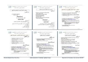 Répertoire des formations ISTA Zagora 2016-2017