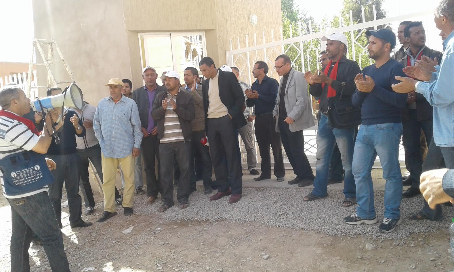 بيان المكتب الجهوي درعة تافيلالت ل FNE بعد الوقفة أمام الاكاديمية الجهوية بالراشيدية 16 أكتوبر 2016-3