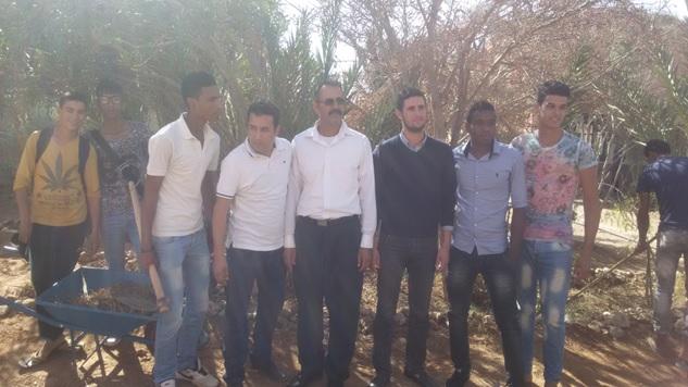 المنجزة بثانوية عثمان بن عفان في اطار استضافة بلادنا COP22
