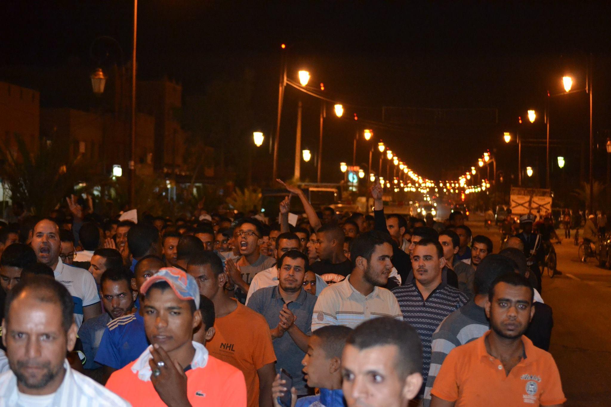 زاكورة .تنظيم مسيرة تنديدا بجريمة قتل الشهيد محسن فكري النكراء بالحسيمة-2