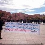 أساتذة سد الخصاص بجهة درعة تافيلالت يصعدون من احتجاجاتهم 