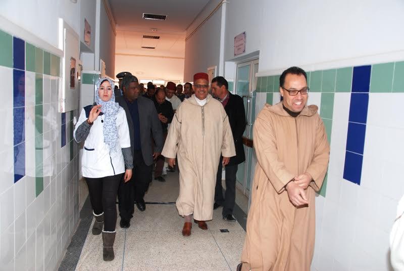 زيارة عامل إقليم لزاكورة للمستشفى الإقليمي-1