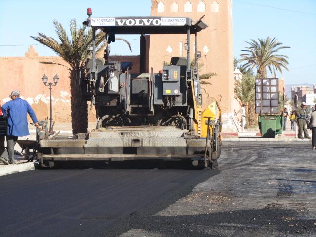 زاكورة: أشغال تهيئة البنية التحتية في المدينة